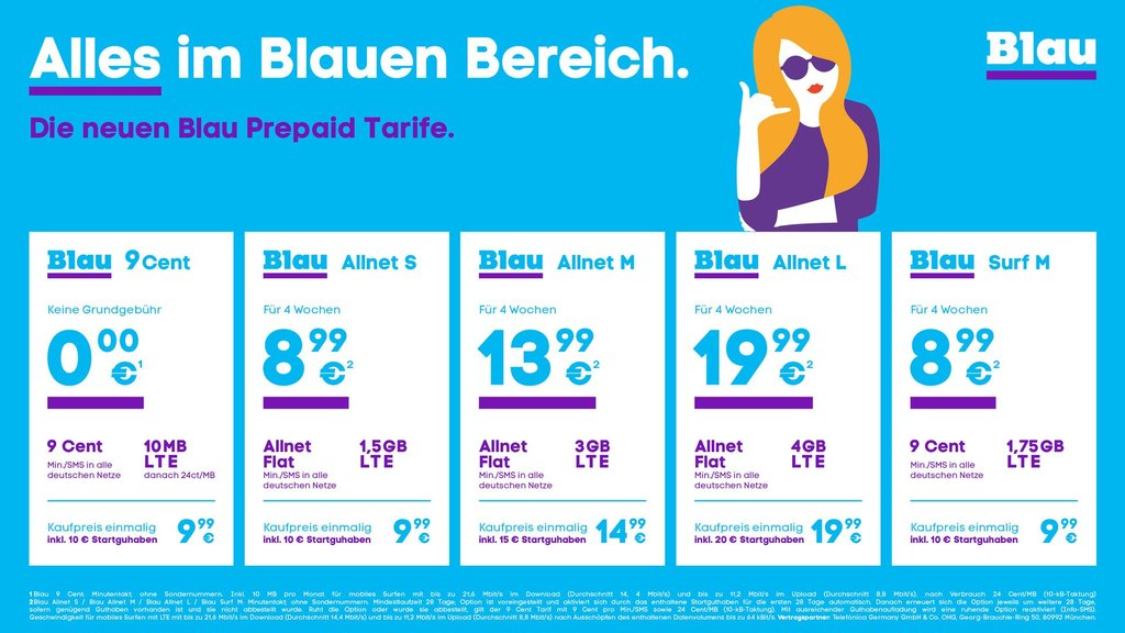 Neue Prepaid Tarife von Blau Da ist alles drin